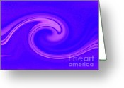 Twirl Greeting Cards - The Wave Greeting Card by Karen Lewis