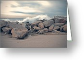 Beach Photograph Photo Greeting Cards - The Wave Greeting Card by Nastasia Cook