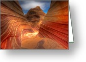 Rock Formations Greeting Cards - The Wave Six Greeting Card by Paul Basile
