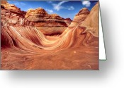 Rock Formations Greeting Cards - The Wave Two Greeting Card by Paul Basile