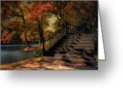 Wrought Iron Stairs Greeting Cards - The Way Greeting Card by Robin-Lee Vieira