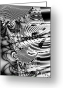 Mandelbrot Greeting Cards - The Web We Weave Greeting Card by Wingsdomain Art and Photography