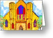 Coulourful Greeting Cards - The Wedding Chapel Greeting Card by Alec Drake