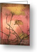 Peeling Paint Greeting Cards - The Weeds Greeting Card by Tara Turner