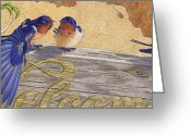Stretch Pastels Greeting Cards - The Welcome Committee Greeting Card by Tracy L Teeter