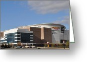 South Philly Greeting Cards - The Wells Fargo Center - Philadelphia  Greeting Card by Bill Cannon