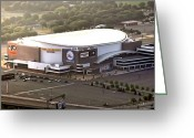 76ers Greeting Cards - The Wells Fargo Center Greeting Card by Bill Cannon