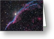 Interstellar Clouds Photo Greeting Cards - The Western Veil Nebula Greeting Card by Roth Ritter