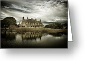 Inland Greeting Cards - The Whalehead Club Greeting Card by Mark Wagoner