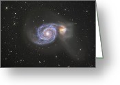 Astrophotography Greeting Cards - The Whirlpool Galaxy Greeting Card by Robert Gendler