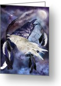 Catcher Greeting Cards - The White Raven Greeting Card by Carol Cavalaris