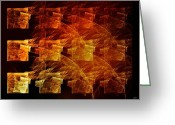 Fire Houses Greeting Cards - The whole block is on fire Greeting Card by Gun Legler