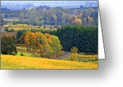 Grapevines Greeting Cards - The Willamette Valley Greeting Card by Margaret Hood