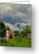 Windmill And Tree Greeting Cards - The Windmill Greeting Card by Paul Ward