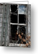 Abandon Digital Art Greeting Cards - The Window Greeting Card by Amanda Barcon
