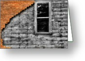 Dilapidated Greeting Cards - The Window of Despair Greeting Card by Thomas Young
