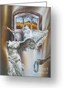 Laurel Wreath Greeting Cards - The Window Of Heaven Greeting Card by Victor Hagea
