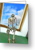 Other World Greeting Cards - The Window Greeting Card by Robert Lacy