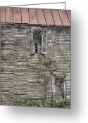 The Haunted House Greeting Cards - The Window up Above Greeting Card by JC Findley