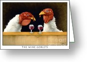 Cocktail Greeting Cards - The Wine Goblets... Greeting Card by Will Bullas