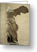 Statues Greeting Cards - The Winged Victory of Samothrace Greeting Card by Chris Brewington