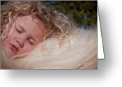 Storybook Greeting Cards - The Winter Sleep Greeting Card by Terry Kirkland Cook