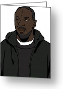 Tv Show Greeting Cards - The Wires Omar Little Greeting Card by Tomas Raul Calvo Sanchez