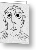 Wise Man Greeting Cards - The Wise Man Greeting Card by Mimo Krouzian