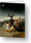 Great Painting Greeting Cards - The Witches Sabbath Greeting Card by Goya