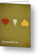 Art Prints Digital Art Greeting Cards - The Wizard of Oz Greeting Card by Christian Jackson