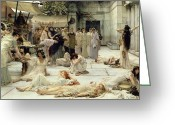 Guards Greeting Cards - The Women of Amphissa Greeting Card by Sir Lawrence Alma-Tadema