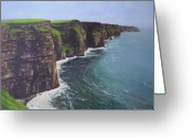 County Clare Greeting Cards - The Wonderful Cliffs Of Moher Greeting Card by Eamon Doyle