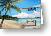 Aircraft Art Greeting Cards - The Woolaroc Greeting Card by Kenneth Young