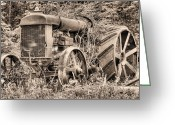 Stafford Greeting Cards - The Workhorse BW Greeting Card by JC Findley
