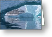 Antarctica Greeting Cards - The World at Booth Bay Island Antarctica Greeting Card by Per Lidvall