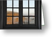 Window Panes Greeting Cards - The World Is Waiting Greeting Card by Odd Jeppesen
