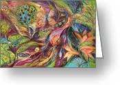 Signed Greeting Cards - The World of Lilies ...... the original can be purchased directly from www.elenakotliarker.com Greeting Card by Elena Kotliarker