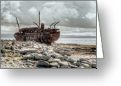 County Clare Greeting Cards - The Wreck of Plassey Greeting Card by Natasha Bishop