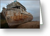 C Casch Greeting Cards - The Wreck Of The Point Reyes Greeting Card by C Casch