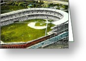 Polo Grounds Greeting Cards - The Yankees Polo Grounds In New York City In The 1920s Greeting Card by Dwight Goss