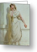 Neo-classical Greeting Cards - The Young Bride Greeting Card by Alcide Theophile Robaudi