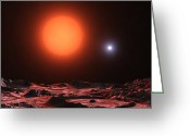 Binary Stars Greeting Cards - The Zeta Aurigae Binary System Greeting Card by Andrew Taylor
