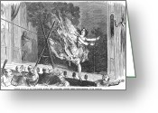 Tightrope Greeting Cards - Theatre Accident, 1860 Greeting Card by Granger