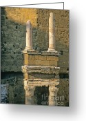 Statues Greeting Cards - Theatre dOrange. Provence. Greeting Card by Bernard Jaubert