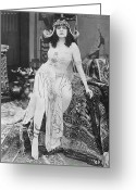 Bara Greeting Cards - Theda Bara (1885-1955) Greeting Card by Granger