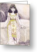 Bara Greeting Cards - Theda Bara 2 Greeting Card by Mel Thompson