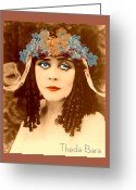 Bara Greeting Cards - Theda Bara Greeting Card by Joaquin Abella Ojeda