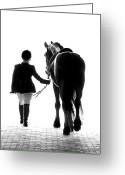 Black And White Photo Greeting Cards - Their Future Looks Bright Greeting Card by Ron  McGinnis