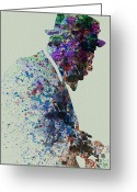 Blues Greeting Cards - Thelonious Monk Watercolor 1 Greeting Card by Irina  March