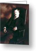 Presidential Portrait Greeting Cards - Theodore Roosevelt - President of the United States  Greeting Card by International  Images